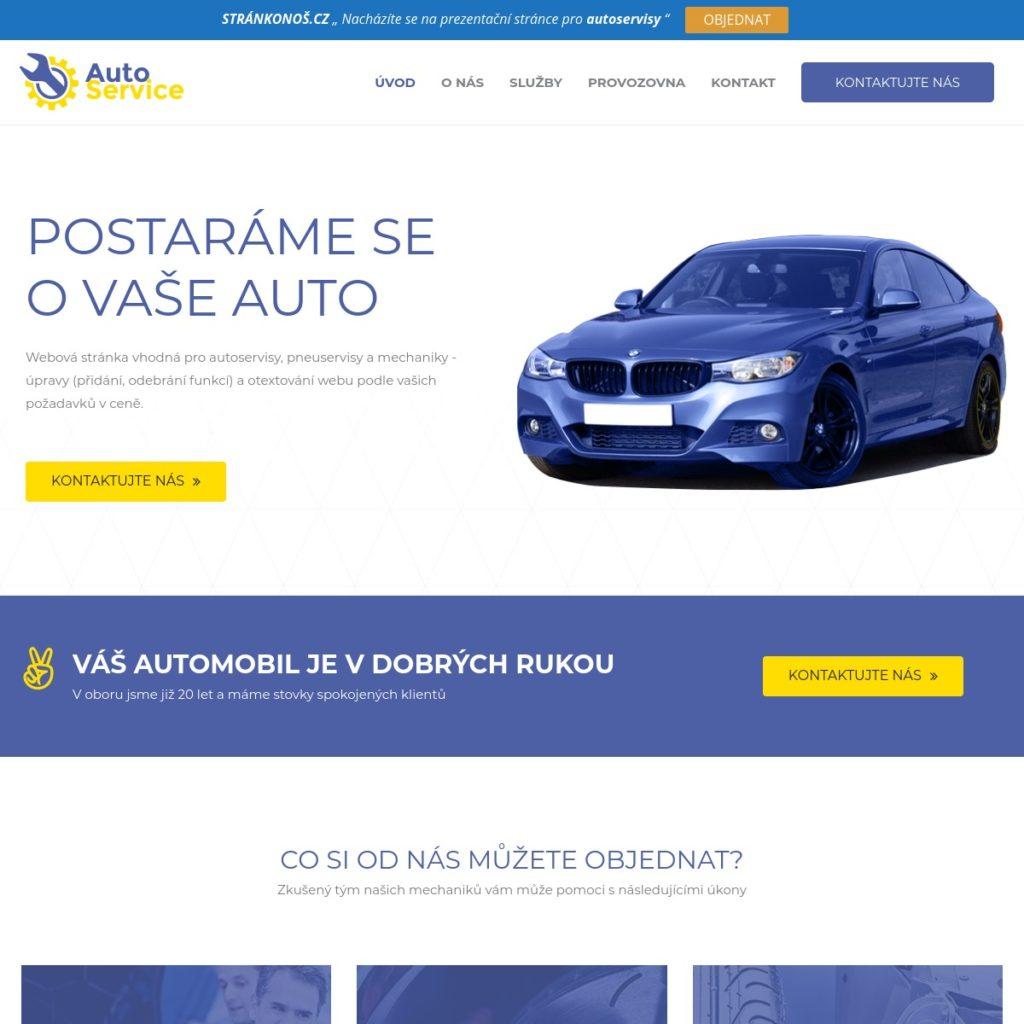 Autoservis - web pro autoservisy