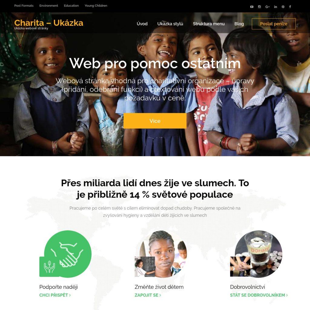 Charita - web pro charity