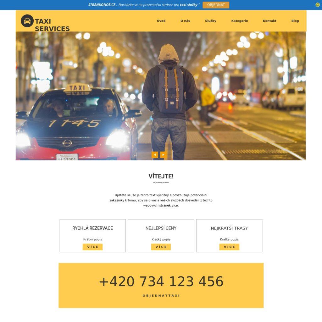 Taxi - web pro taxikáře
