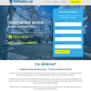 avasklo.cz - Sklenářské práce