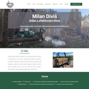 Milan Diviš - těžba a přibližování dřeva