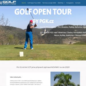 Golf Open Tour - turnaje v golfu