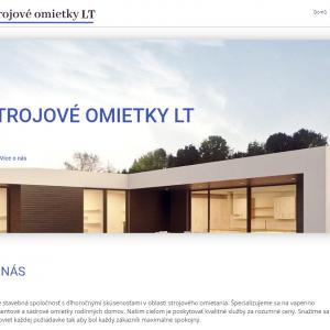 Strojní omítky - slovenský web
