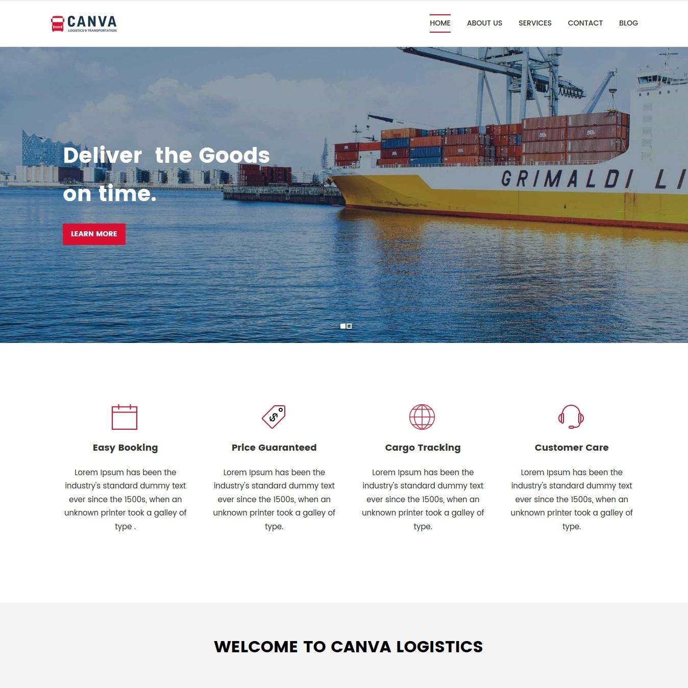 web-preprava-logistika-nahled