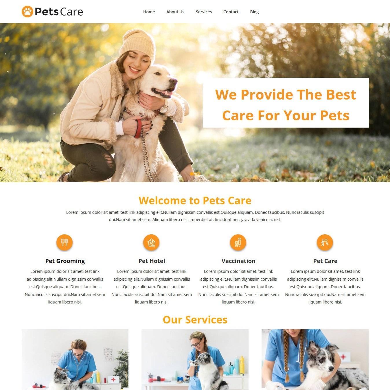 web-veterina-utulek-nahled